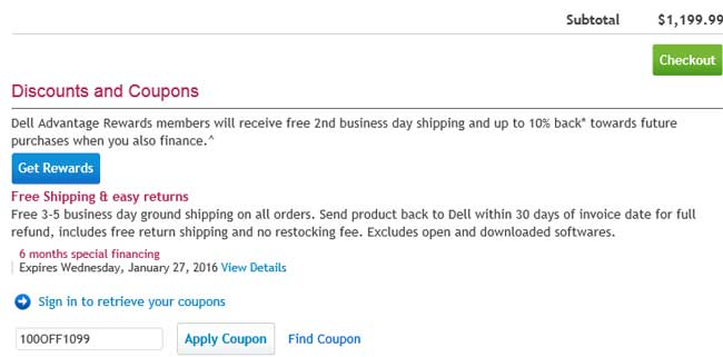 Dell discount coupons